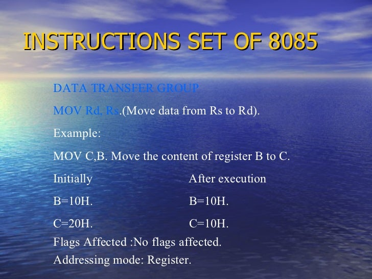 instruction register in 8085