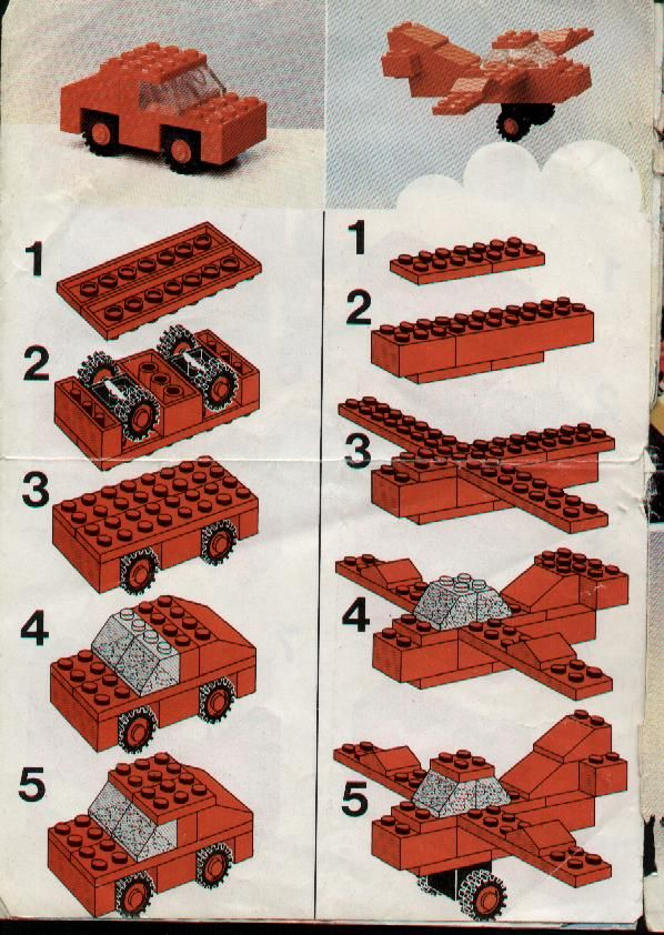lego book with step by step instructions