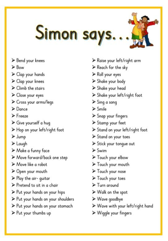 simon says game instructions