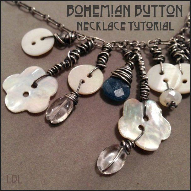 button necklace instructions free