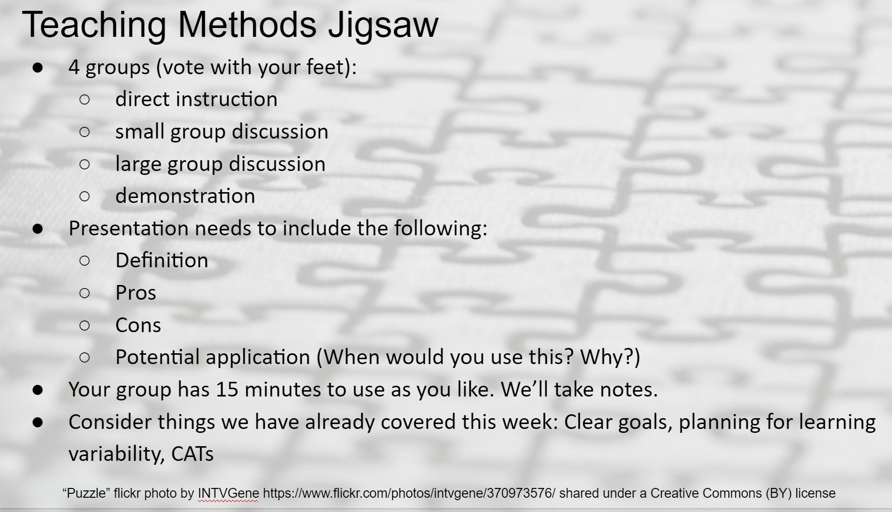 jigsaw method of instruction