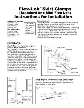 conveyor belt installation instructions