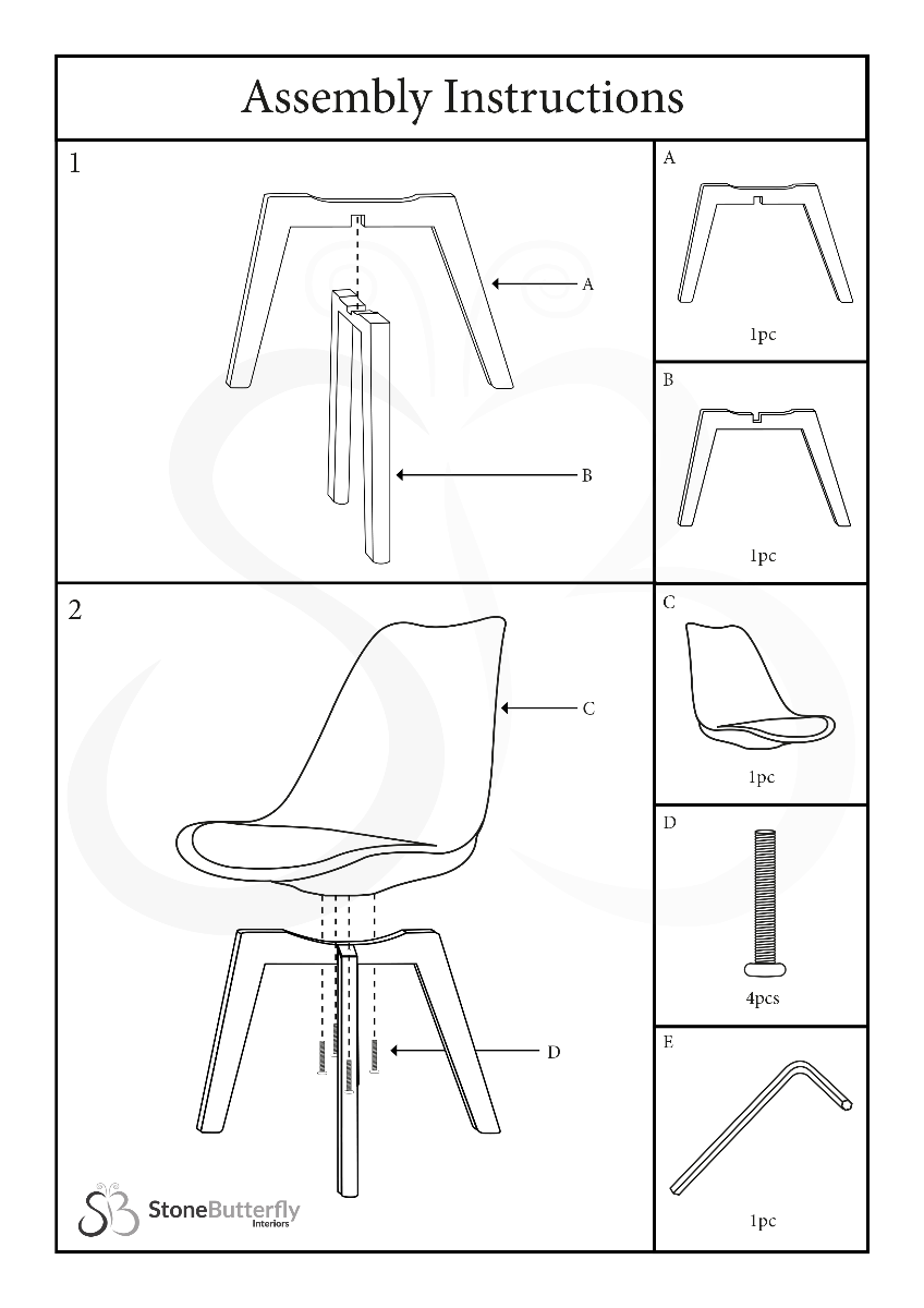 eames table assembly instructions