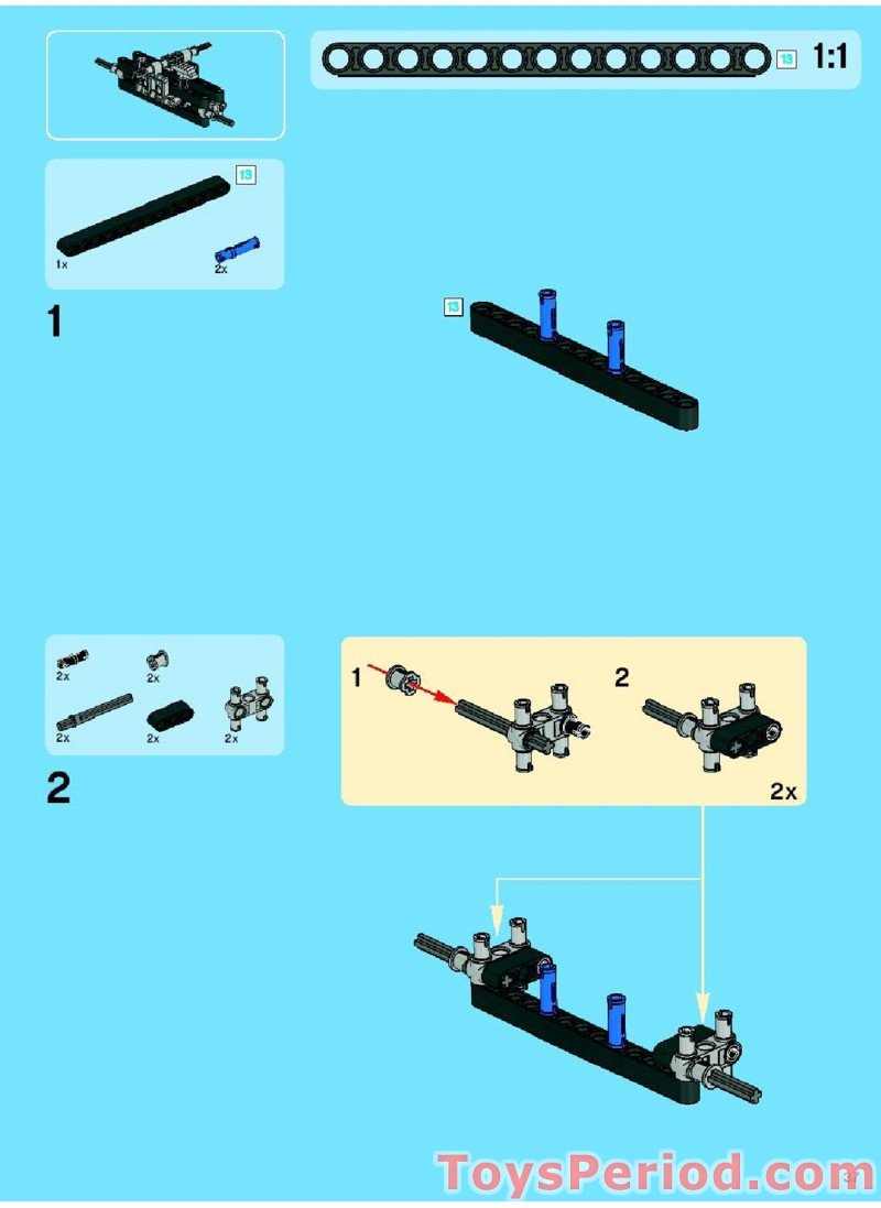 lego technic trailer building instructions