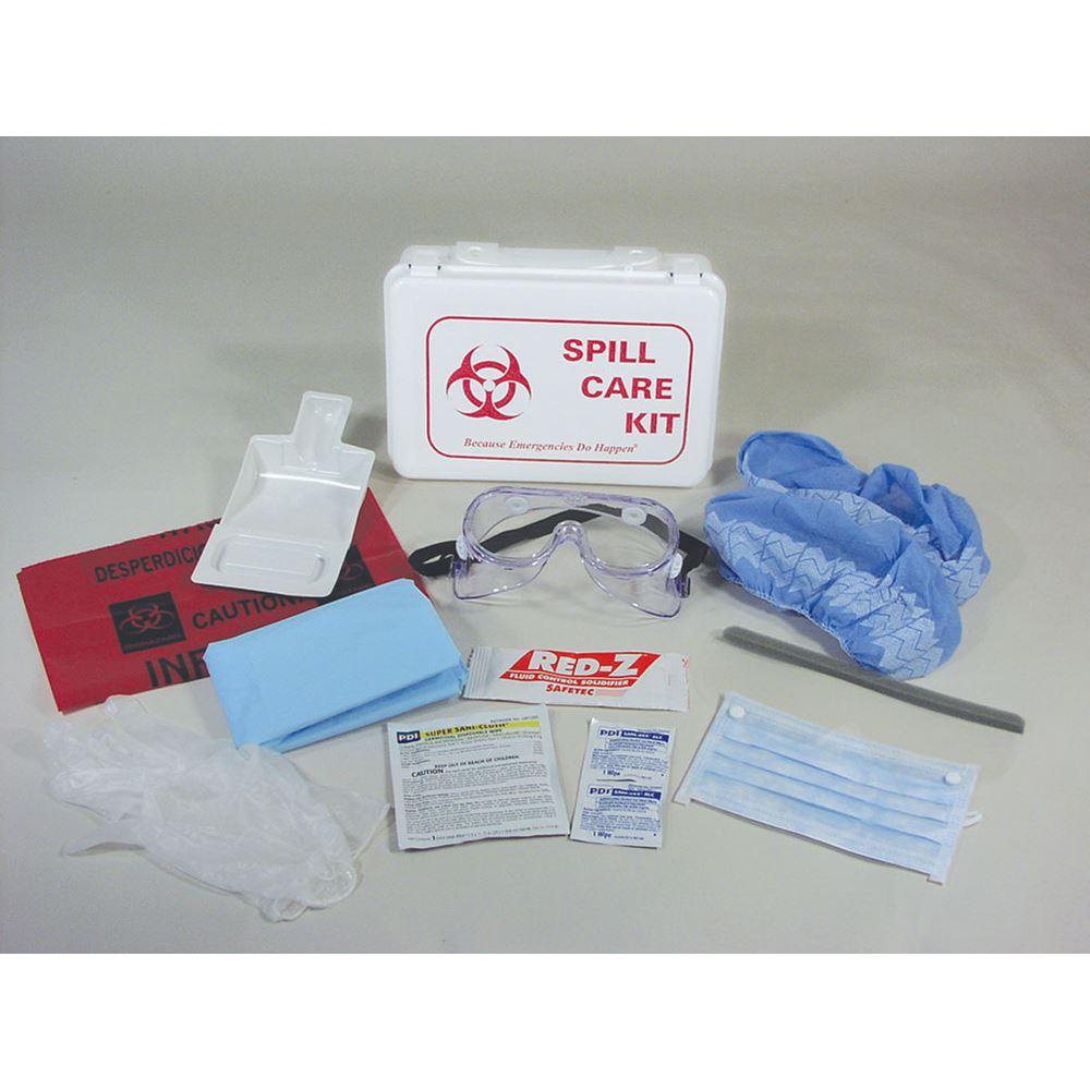 blood spill kit instructions