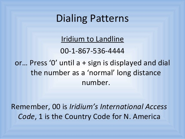 international phone dialing instructions
