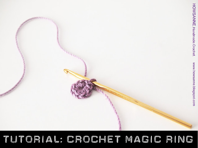 written instructions for crochet magic ring