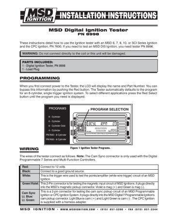 msd distributor installation instructions