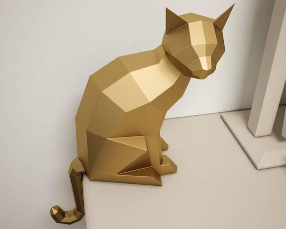 3d cat puzzle instructions