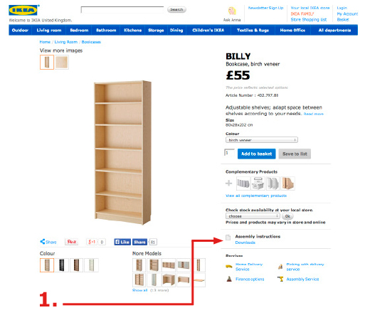 ikea assembly instructions discontinued items