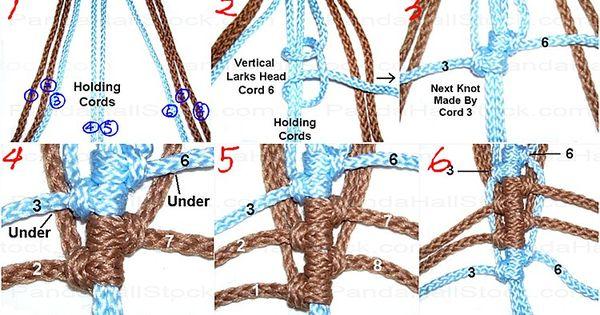 macrame leaf pattern instructions