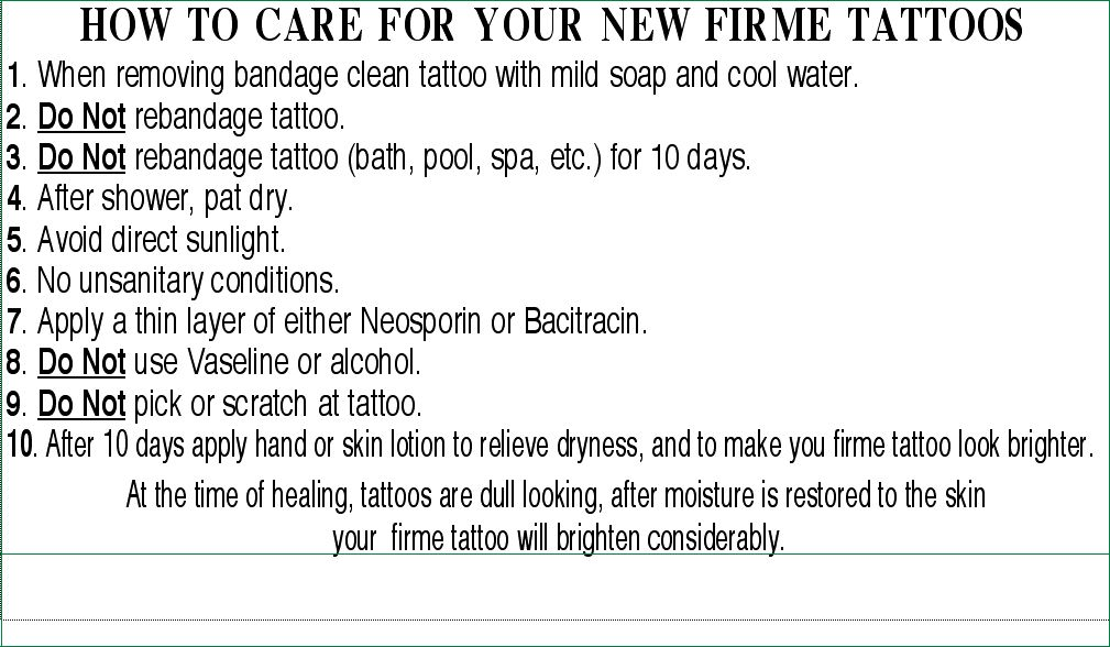 body piercing aftercare instructions