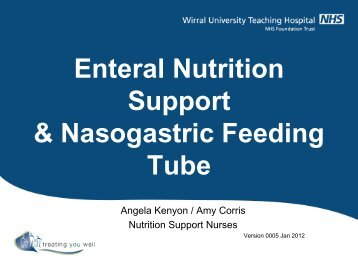 continuous tube feeding instructions