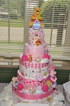 5 tier diaper cake instructions