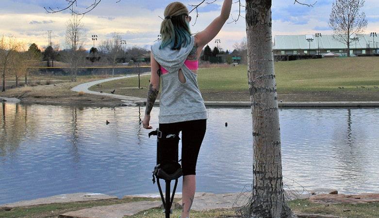 one crutch walking instructions