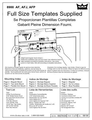 dorma rts85 installation instructions