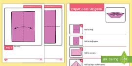instructions to make a paper boat ks1