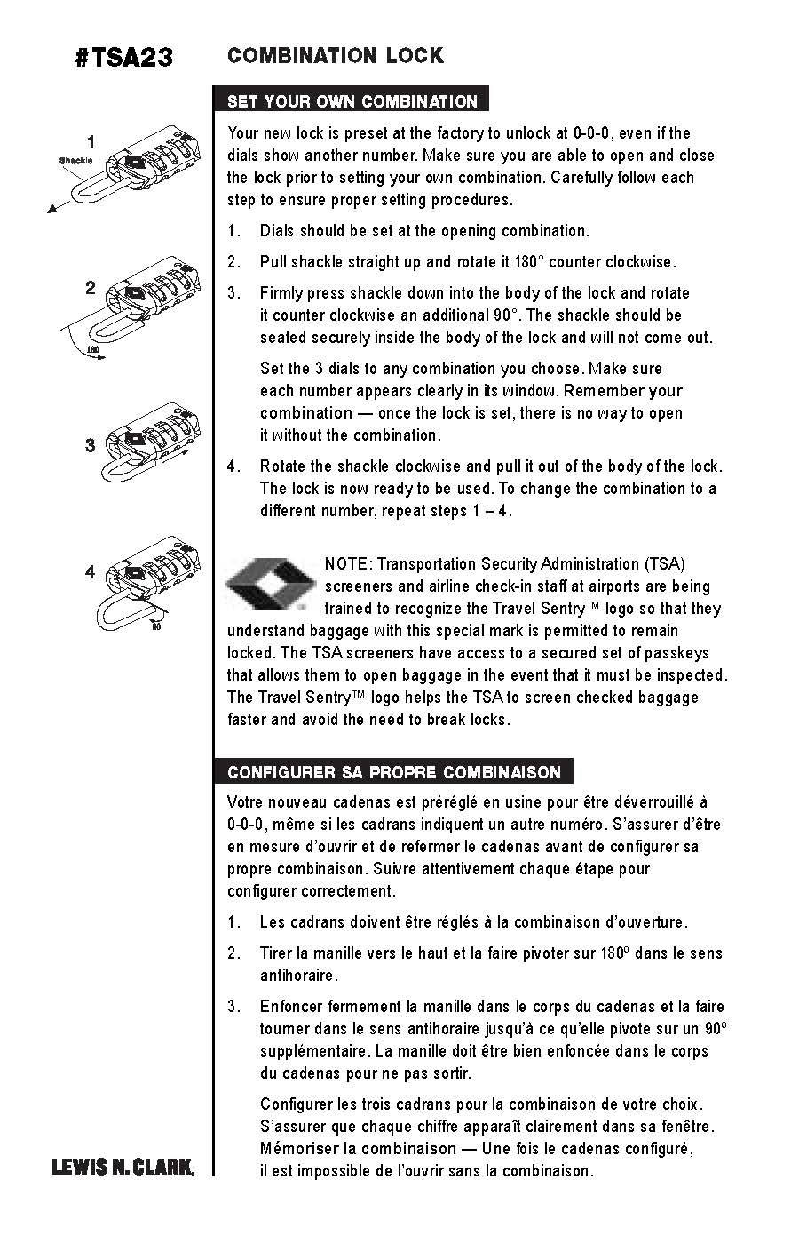 lockwood combination lock instructions