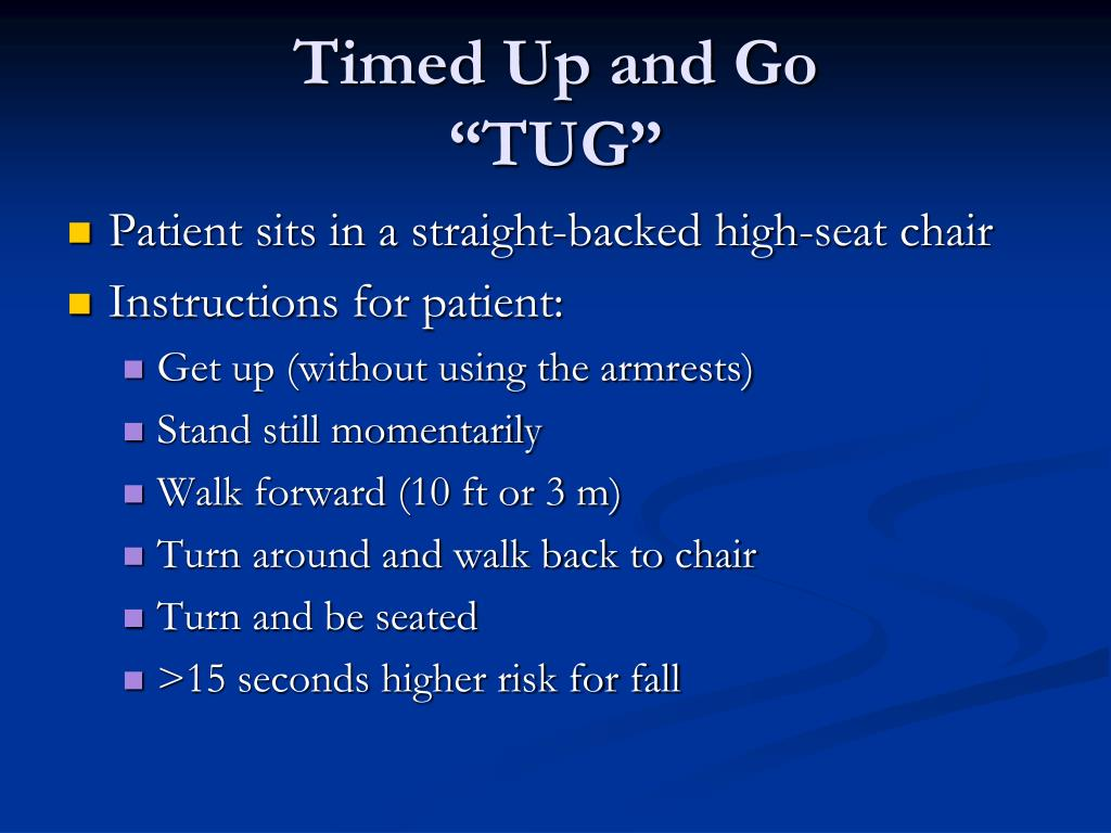 timed up and go instructions