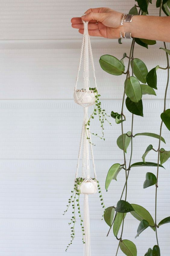 macrame pot hanger instructions