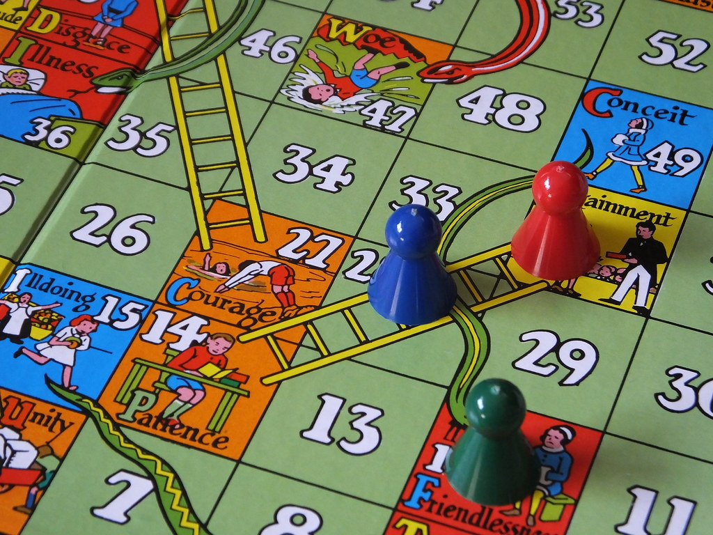 3d snakes and ladders instructions