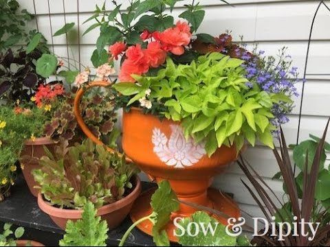 tire teacup planter instructions