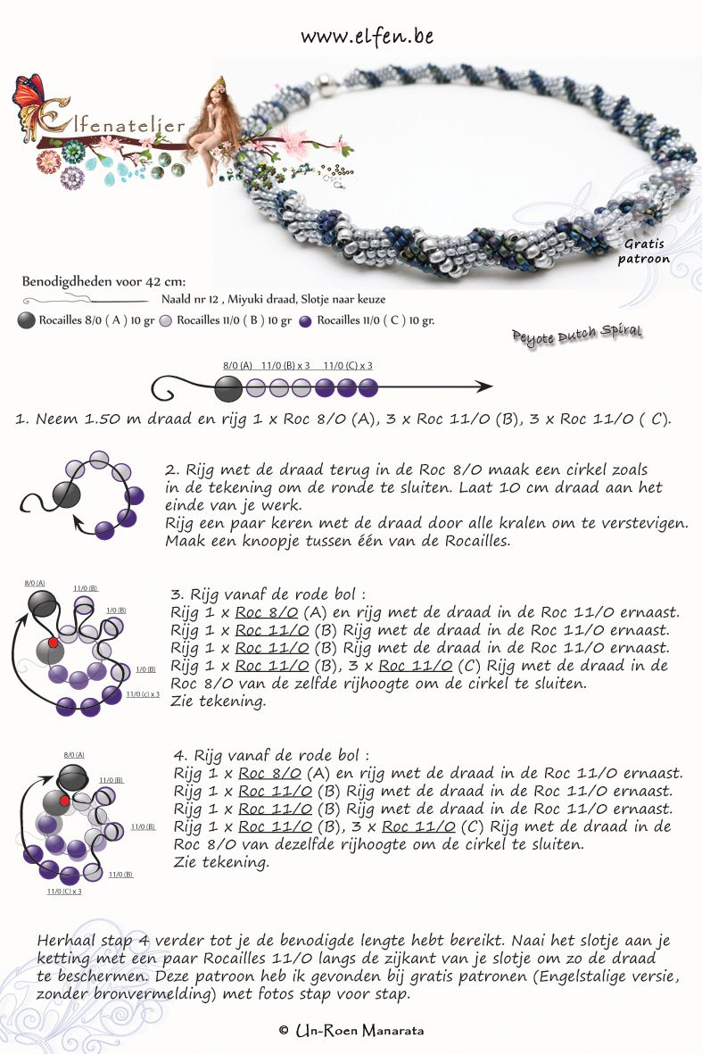free seed bead patterns and instructions