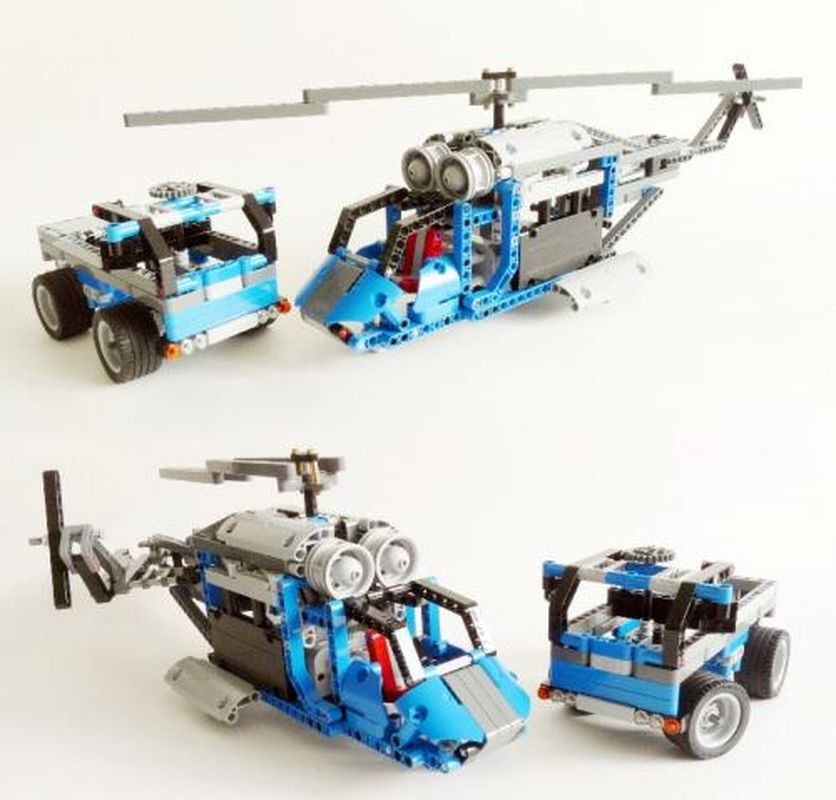 lego helicopter transporter instructions