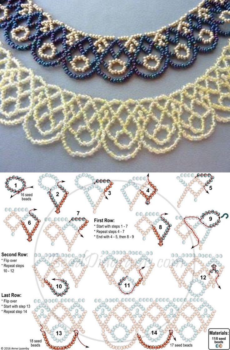 free seed bead necklace patterns and instructions