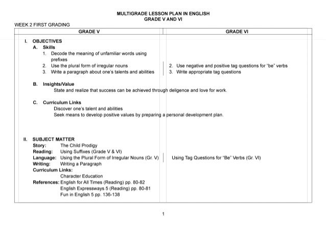 differentiated instruction lesson plans english language arts