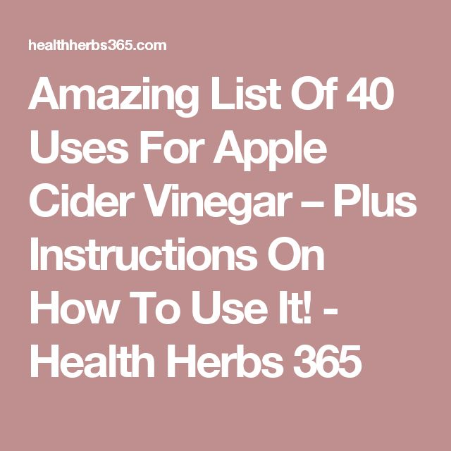 apple cider vinegar instructions