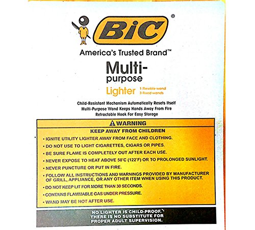bic multi purpose lighter instructions