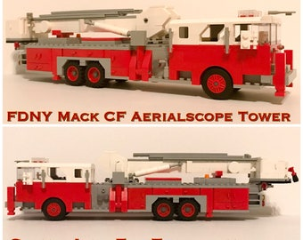 custom lego fire truck instructions
