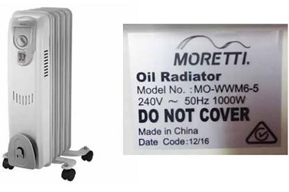 moretti 2400w 11 fin oil column heater instructions