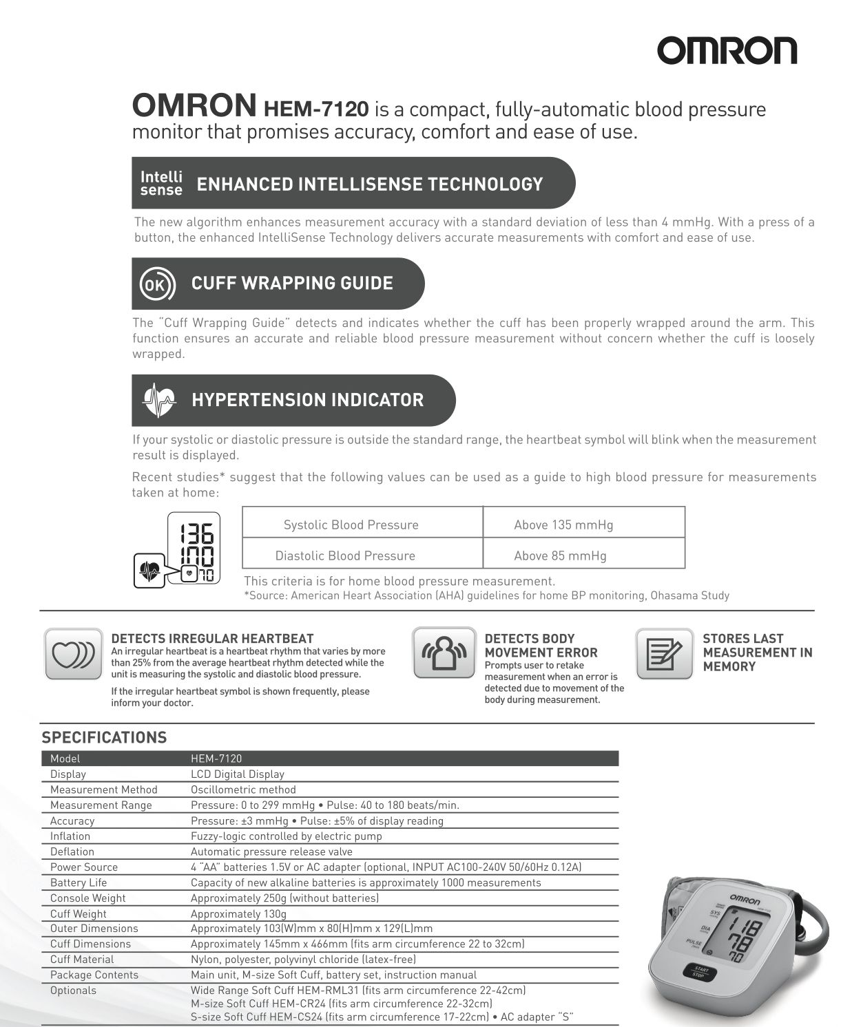 omron manual blood pressure monitor instructions
