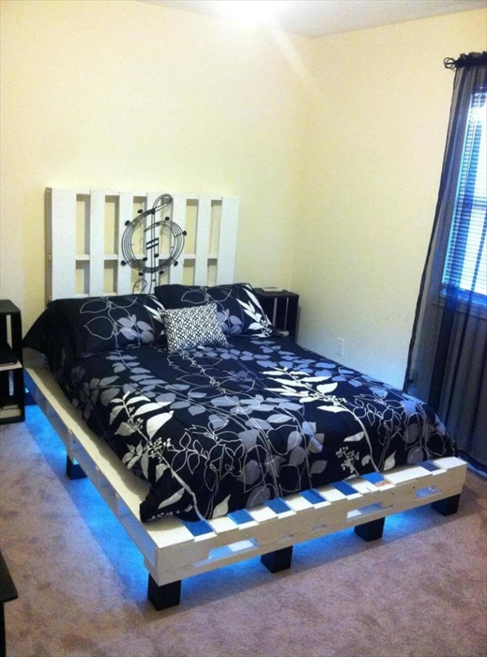 pallet platform bed instructions