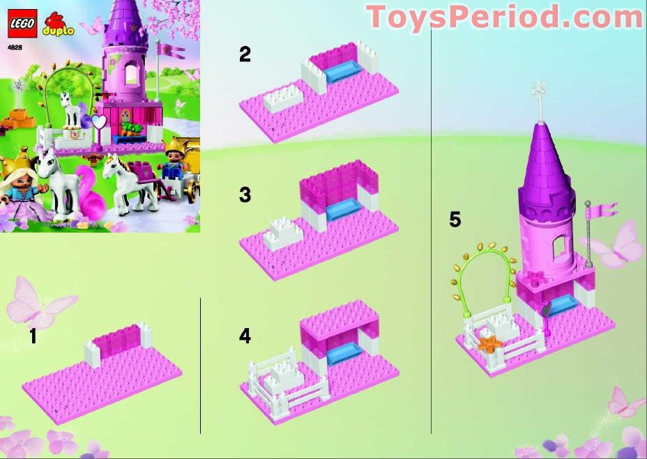duplo princess castle instructions