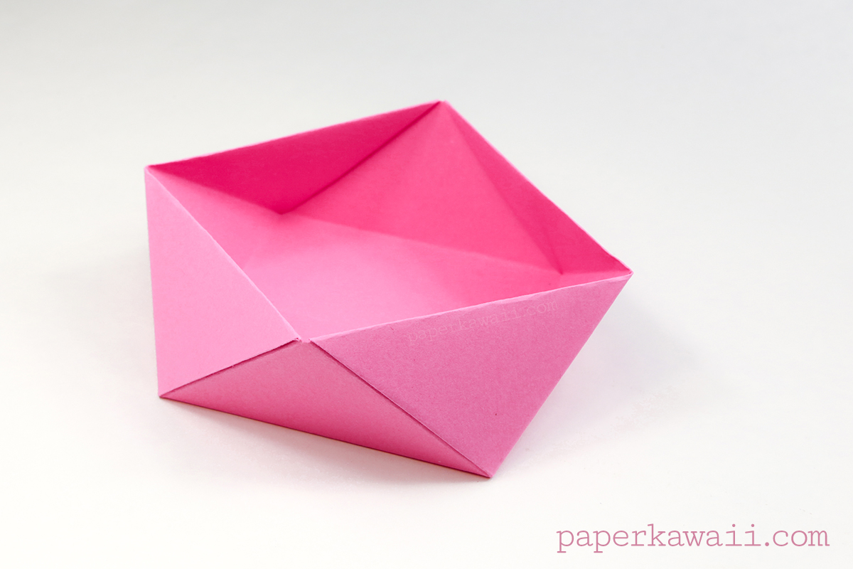 easy paper box instructions