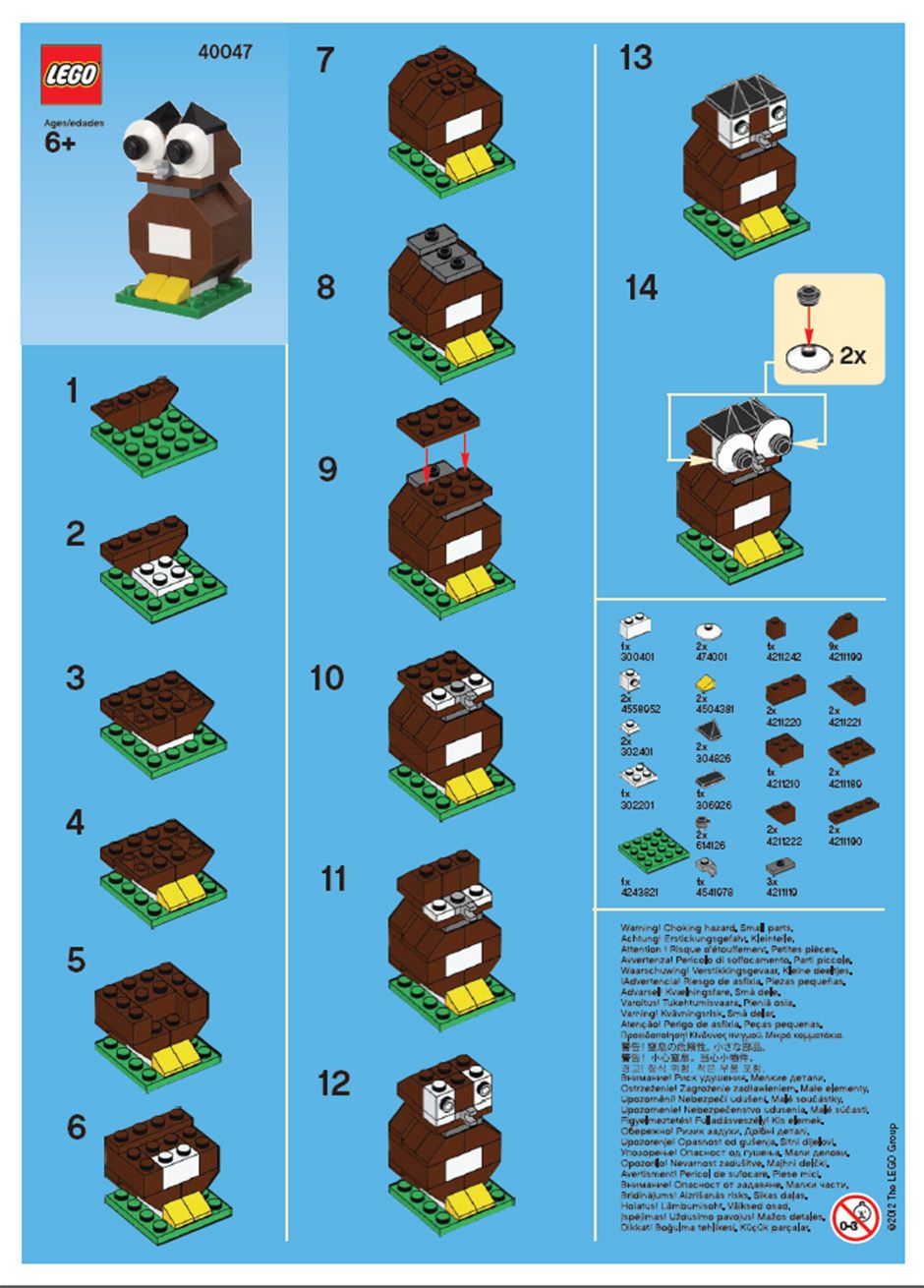 mini lego y wing instructions