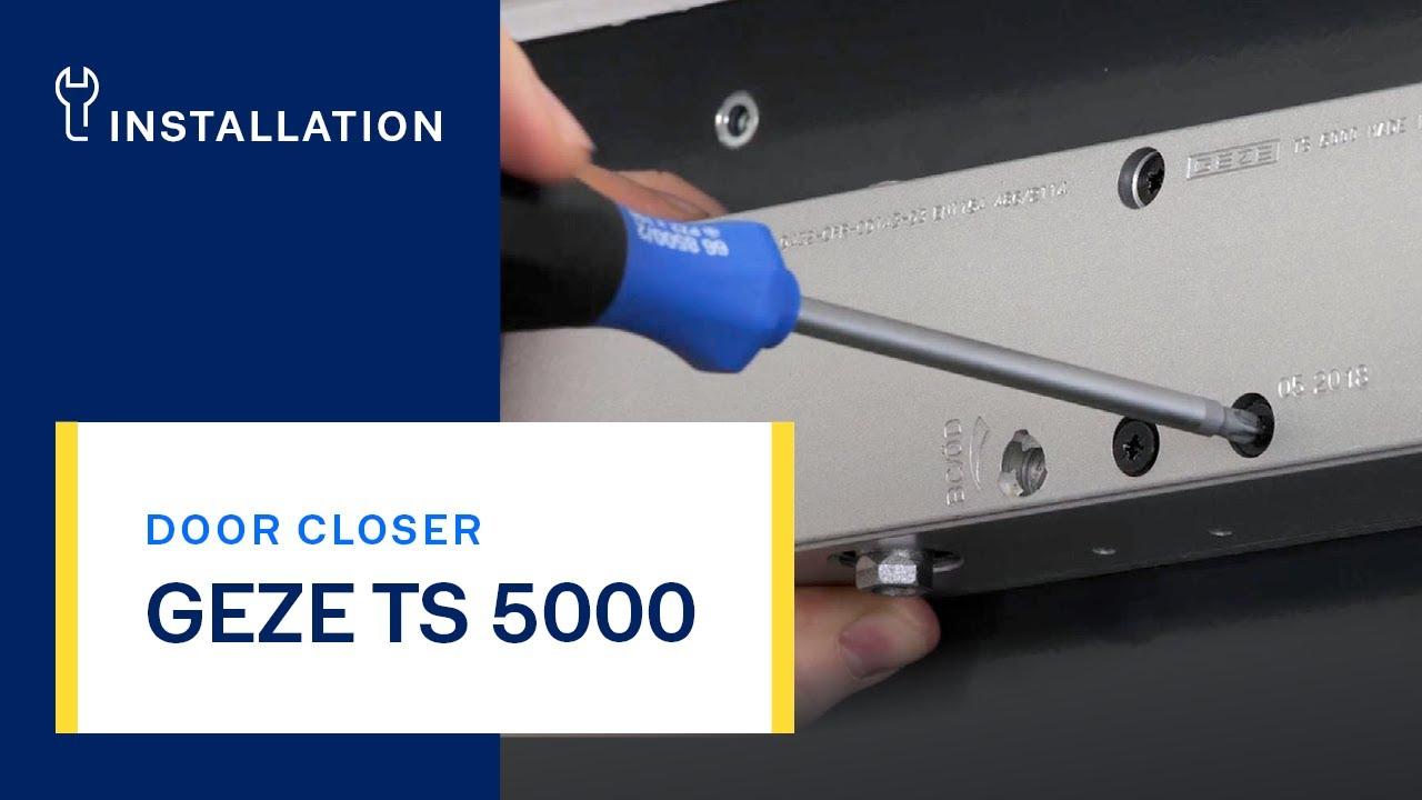 geze ts 2000 door closer instructions