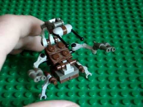 how to build a lego droideka instructions