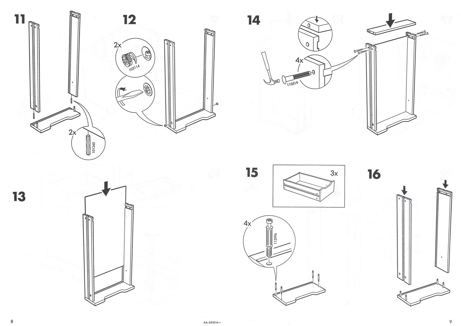 ikea wall anchor instructions