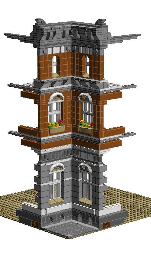 lego modular house instructions