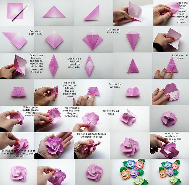origami bird base instructions