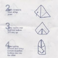 printable napkin folding instructions