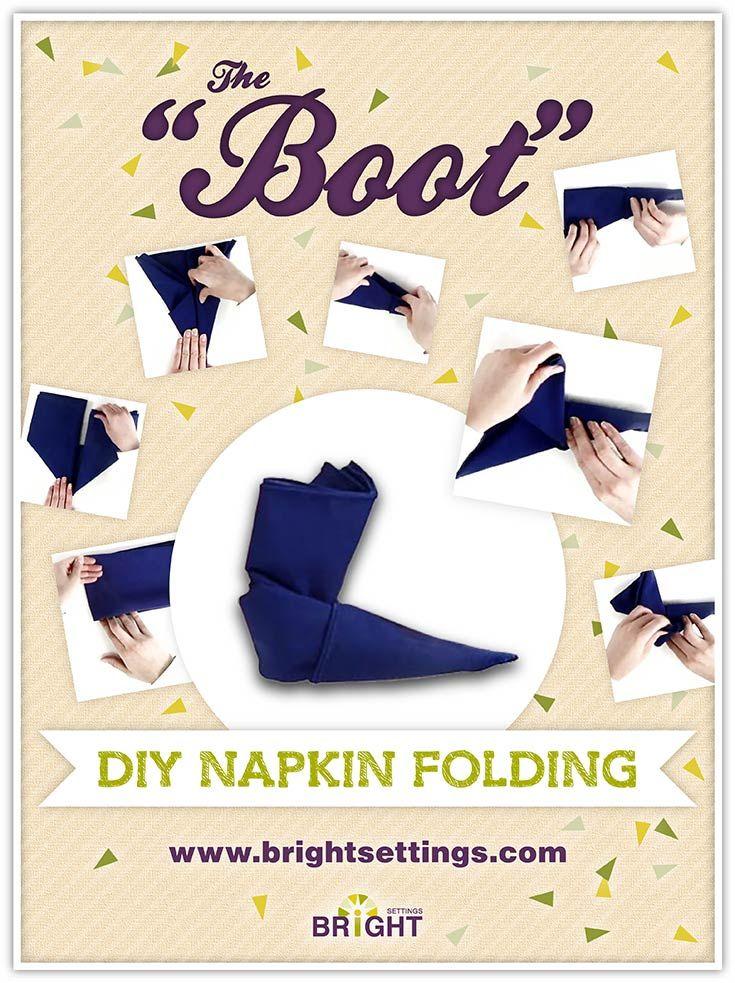 rosebud napkin fold instructions