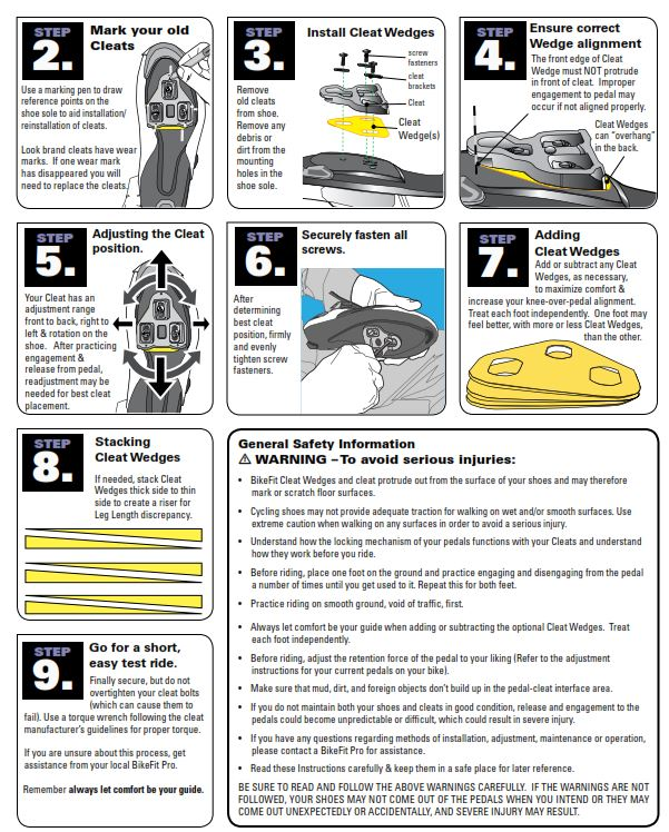 shimano spd pedals instructions
