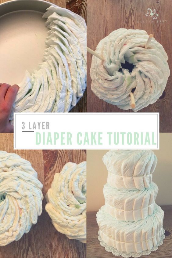 two tier diaper cake instructions